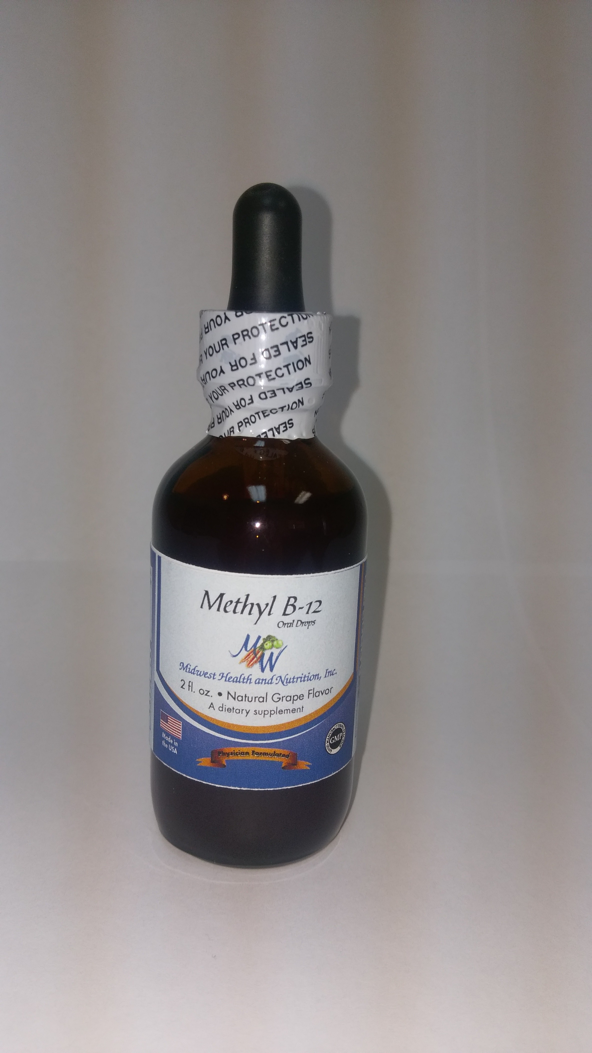 B 12, Methyl Drops, Grape