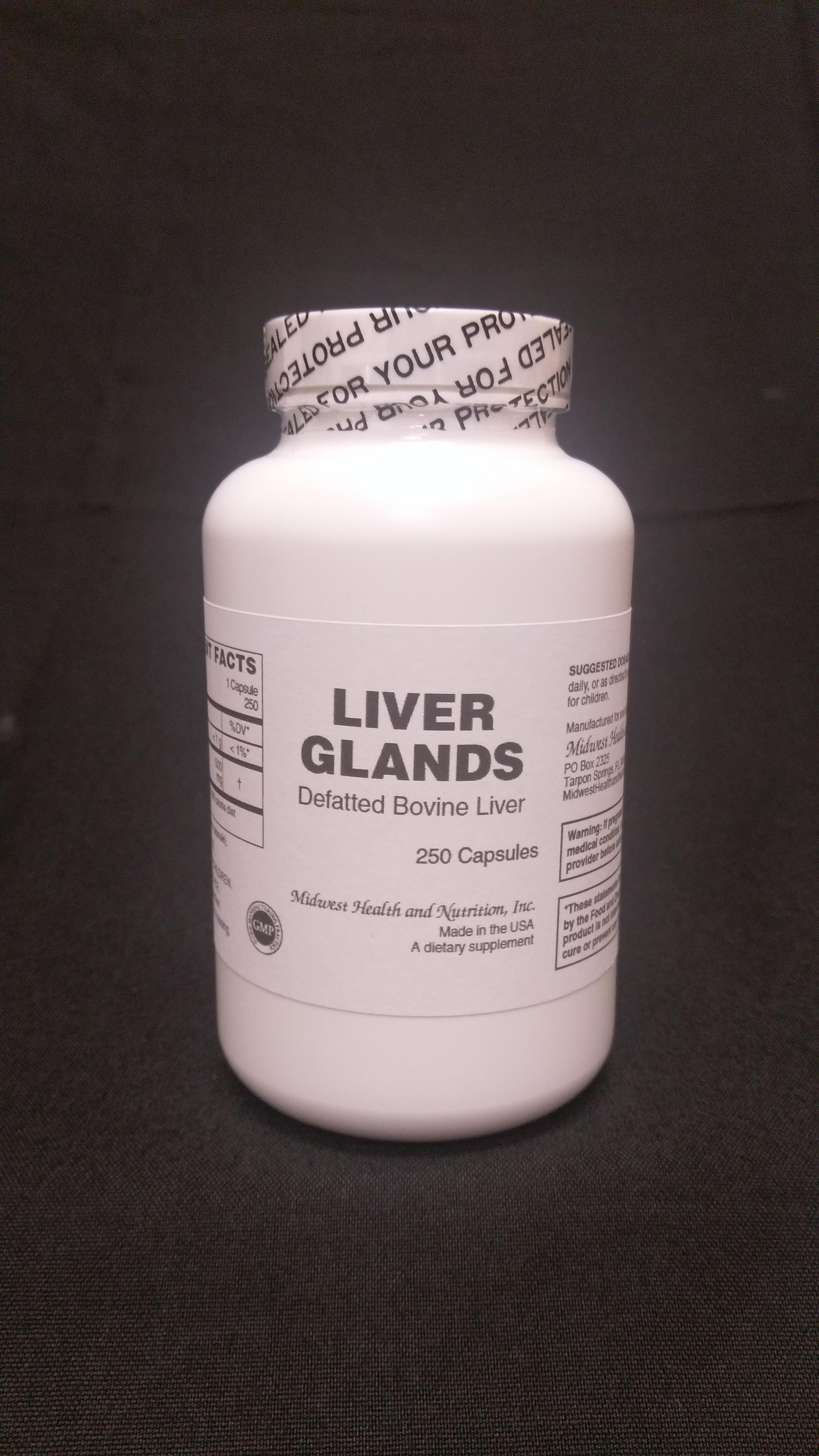 Liver Capsules 250 count